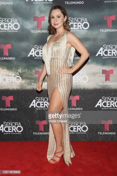 Aurora Gil attends the special screening of Telemundo tv series Senora Acero 5th season on October 10 2018 in Mexico City Mexico