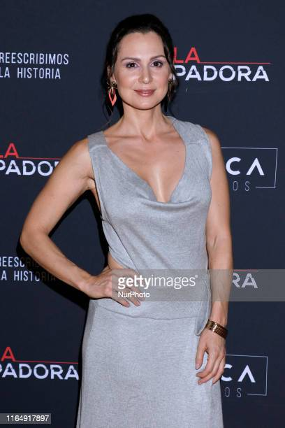 Aurora Gil poses for photos during a red carpet of premiere 'La Usurpadora' Tv Screening soap opera at Club de Banqueros on August 29 2019 in Mexico...