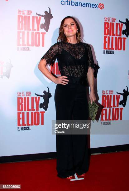 Aurora Gil poses for the camera during the opening night of Billy Elliot Music Show on February 15 2017 in Mexico City Mexico