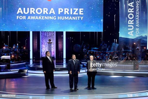 Aurora Humanitarian Initiative Co-Founder Ruben Vardanyan, Aurora Humanitarian Initiative Co-Founder Vartan Gregorian and Aurora Humanitarian...