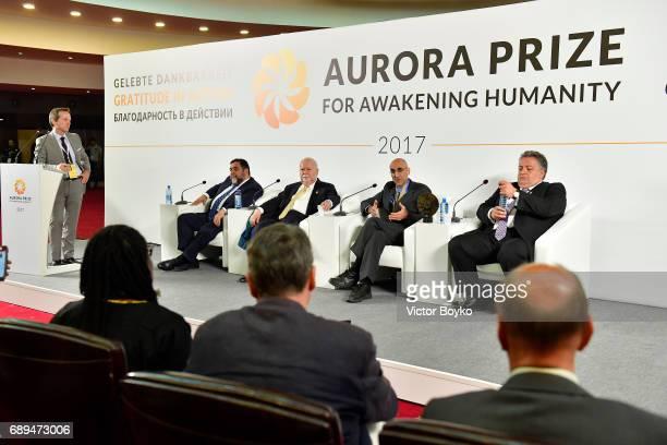 Aurora Humanitarian Initiative CoFounder Ruben Vardanyan Aurora Humanitarian Initiative CoFounder Vartan Gregorian 2017 Aurora Prize Laureate Dr Tom...
