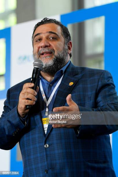 Aurora Humanitarian Initiative Co-Founder Ruben Vardanyan during the Galvanizing the World Session at the Aurora Dialogues, a series of discussions...