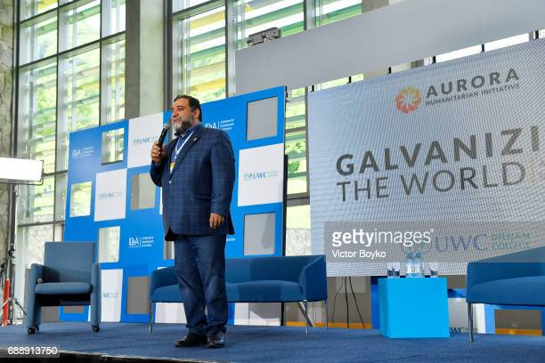 Aurora Humanitarian Initiative CoFounder Ruben Vardanyan during the Galvanizing the World Session at the Aurora Dialogues a series of discussions...
