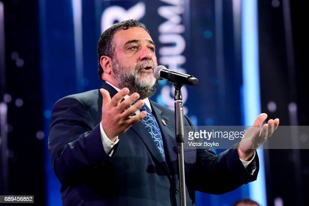 Aurora Humanitarian Initiative CoFounder Ruben Vardanyan offers remarks during the 2017 Aurora Prize Ceremony at the Karen Demirtchian Sport/Concert...