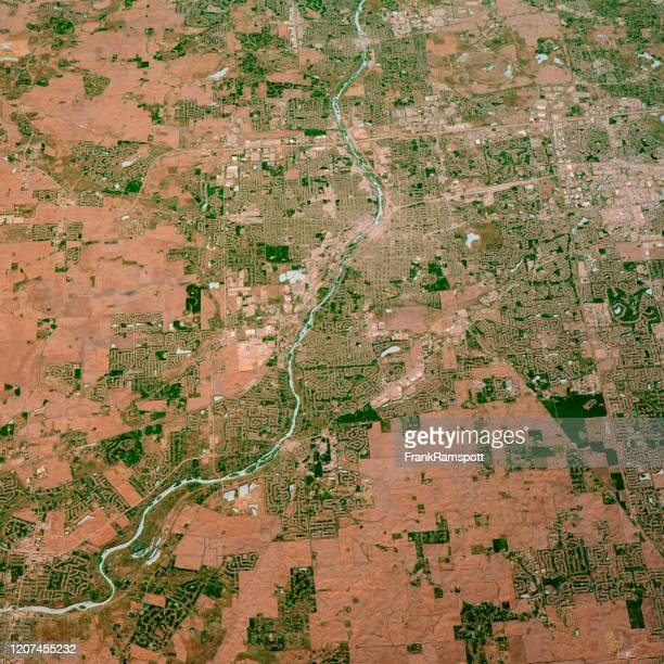 aurora illinois 3d render map color top view apr 2019 - frank ramspott stock pictures, royalty-free photos & images