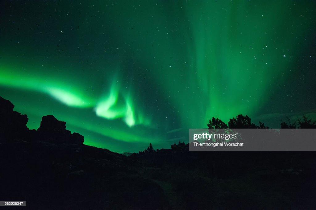 Aurora in Iceland : Stock Photo