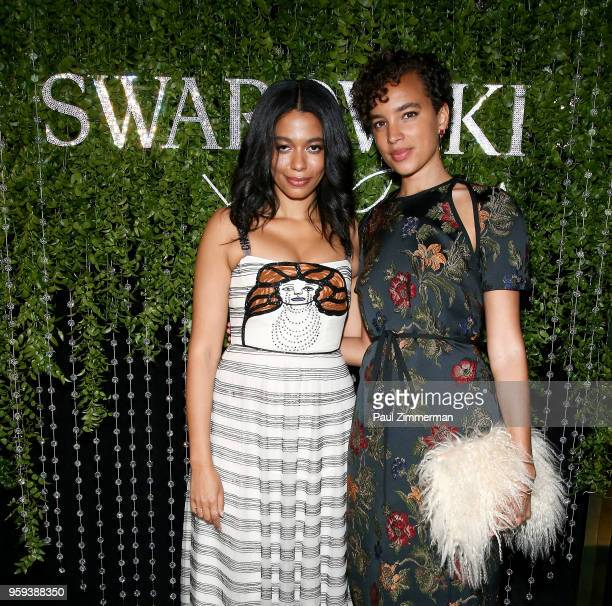 Aurora James and artist and model Phoebe CollingsJames attends the 2018 CFDA Fashion Awards' Swarovski Award For Emerging Talent Nominee Cocktail...