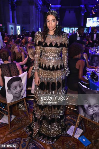 Aurora James attends 13th Annual UNICEF Snowflake Ball 2017 at Cipriani Wall Street on November 28 2017 in New York City