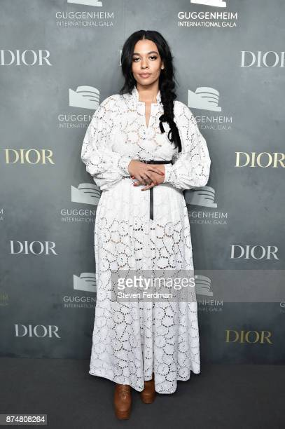 Aurora James attends the 2017 Guggenheim International Gala PreParty made possible by Dior on November 15 2017 in New York City