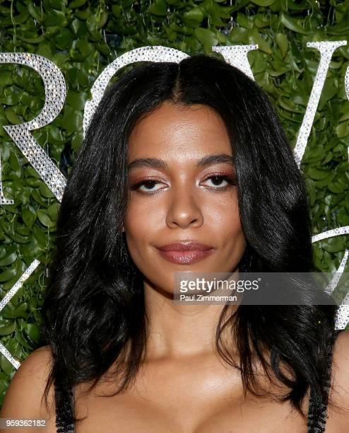Aurora James attends the 2018 CFDA Fashion Awards' Swarovski Award For Emerging Talent Nominee Cocktail Party at DUMBO House on May 16 2018 in New...