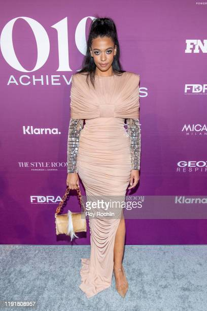 Aurora James attends the 2019 FN Achievement Awards at IAC Building on December 03 2019 in New York City