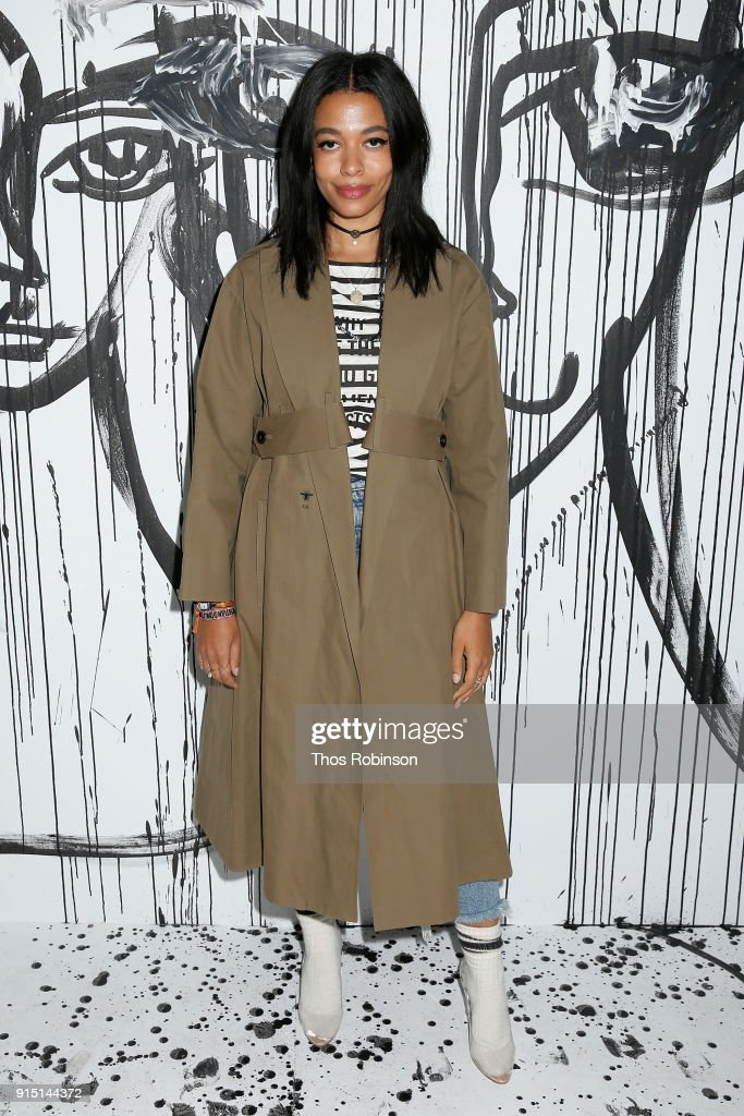 Aurora James attends the Dior Spring-Summer 2018 Collection launch event at Milk Garage on February 6, 2018 in New York City.