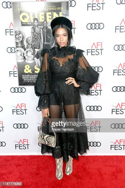"""Aurora James attends the """"Queen & Slim"""" Premiere at AFI FEST 2019 presented by Audi at the TCL Chinese Theatre on November 14, 2019 in Hollywood,..."""