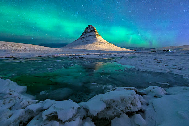 Aurora Over Kirkjufell Mountain Iceland Wall Art