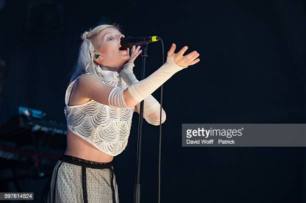 Aurora performs at Rock en Seine on August 28 2016 in Paris France