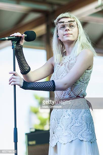 Aurora performs at St Jerome's Laneway Festival on January 26 2017 in Brisbane