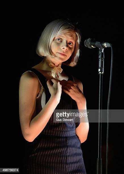 Aurora performs on stage at the O2 Academy Brixton on November 25 2015 in London England