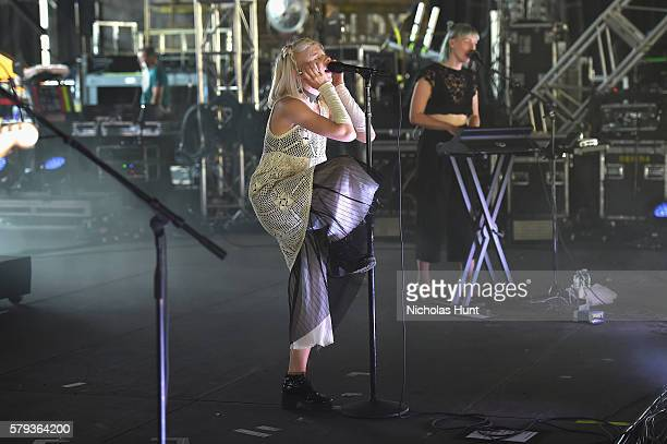 Aurora performs onstage at the 2016 Panorama NYC Festival Day 2 at Randall's Island on July 23 2016 in New York City