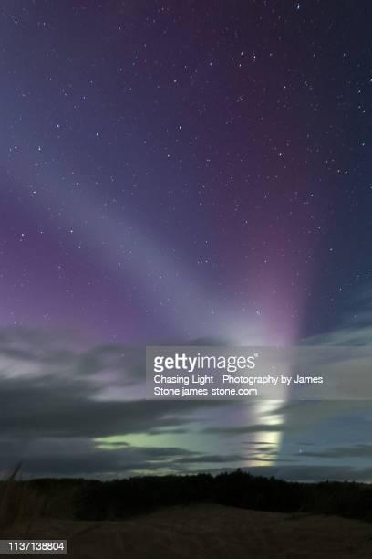 steve aurora phenomenon - light natural phenomenon stock photos and pictures