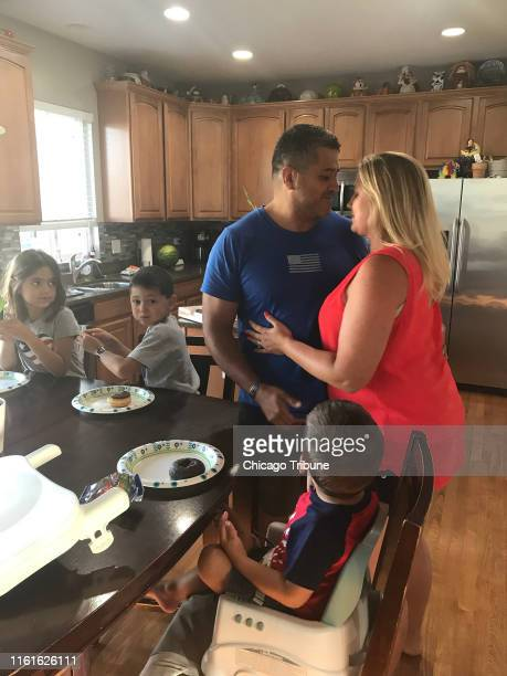 Aurora Police Officer Marco Gomez enjoys family time with his wife Carly and three young children ages 7 5 and 2 while recuperating from serious...