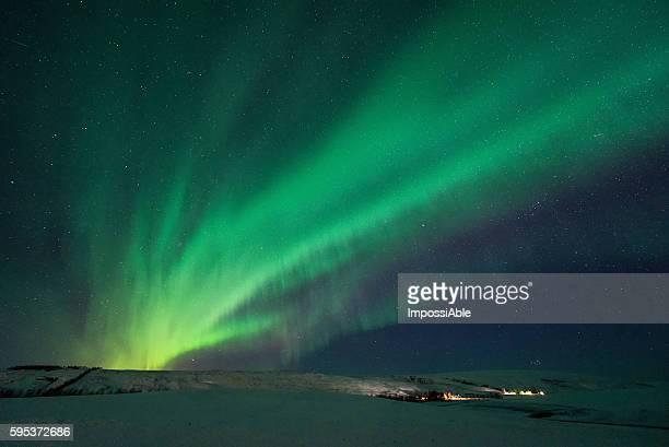 aurora radiate in iceland
