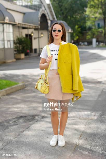 Aurora Ramazzotti is seen during Milan Fashion Week Spring/Summer 2018 on September 24 2017 in Milan Italy