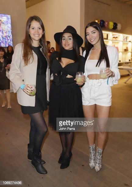 Aurora Ramirez Valentina Guerra and Carla Gonzalez attend the PAMM Presents Antibalas Kilo Kish And Ray Brady at Perez Art Museum Miami on December 6...