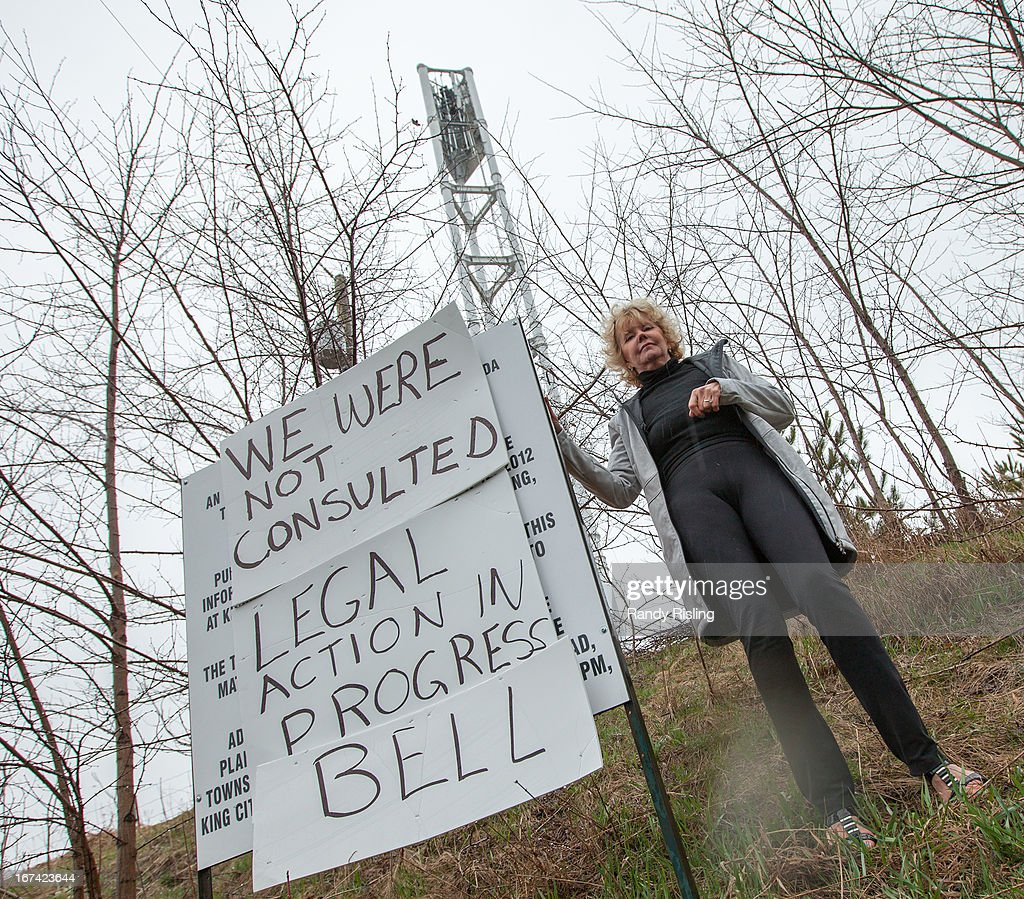 Aurora resident Anita Robertson is furious about a Bell cell tower being constructed just North of Bathurst St and Bloomington Rd W. She says they weren't consulted and will file an injunction to have construction stopped.