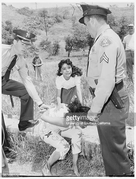 Aurora Vargas being arrested