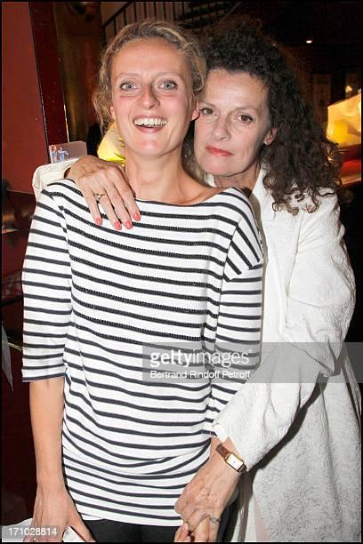 Aurore Auteuil and mother Anne Jousset at Premiere Of The Play Le Vieux Juif Blonde At Theatre Des Mathurins In Paris