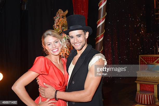 Aurore Delplace and Golan Yosef perform during the 'Love Circus' Press Preview At the Folies Bergeres on September 16 2014 in Paris France