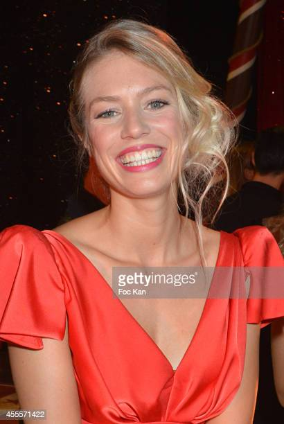 Aurore Delplace performs during the 'Love Circus' Press Preview At the Folies Bergeres on September 16 2014 in Paris France