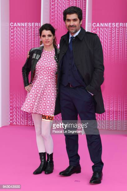 Aurore Erguy and Abdelhafid Metalsi from the serie 'Cherif' attend the Launch of the Official Competition and 'The Truth About The Harry Quebert...
