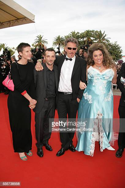 Aurore Lagache Mathieu Kassovitz JeanFrancois Delepine and others at the premiere of Over the Hedge during the 59th Cannes Film Festival