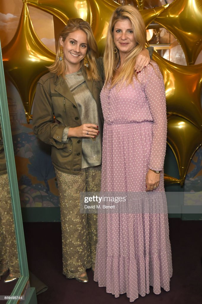 Aurore Ogden (L) and Ariane Ankarcrona attend the Conde Nast Traveller 20th anniversary after party at Annabel's on October 9, 2017 in London, England.