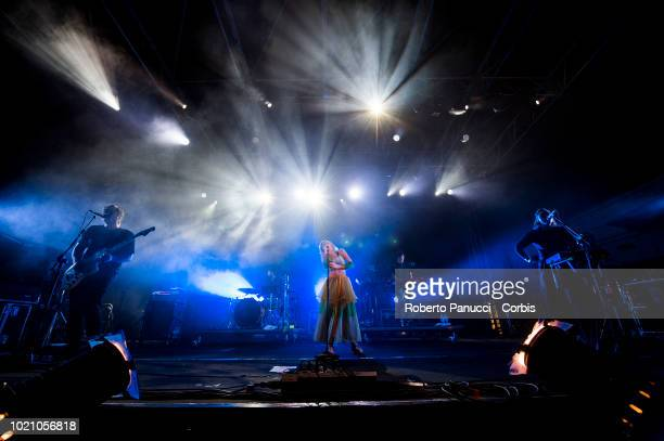 Aurore performs on stage during Ypsigrock Festival on August 10 2018 in Castelbuono Palermo Italy