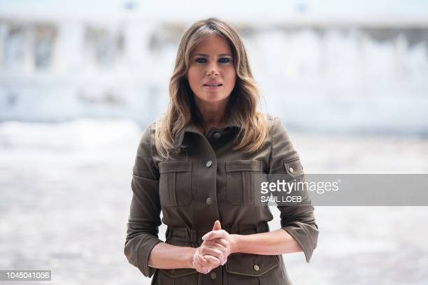 aUS First Lady Melania Trump tours the Cape Coast Castle a former slave trading fort in Cape Coast Ghana on October 3 2018