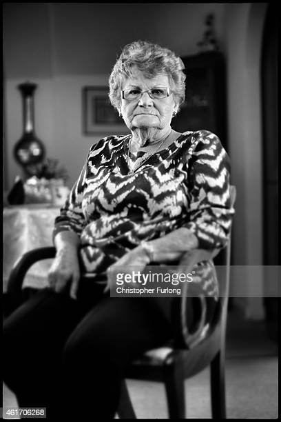 Auschwitz and Belsen concentration camp survivor Eva Behar poses in her London home on December 1 2014 in London United Kingdom As the Russians...