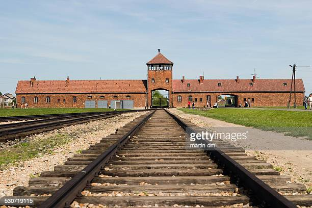 auschwitz birkenau camp - auschwitz stock pictures, royalty-free photos & images