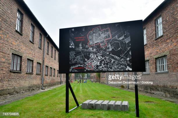 auschwitz concentration camp perimeter. krakow.   poland. - holocaust in color stock pictures, royalty-free photos & images
