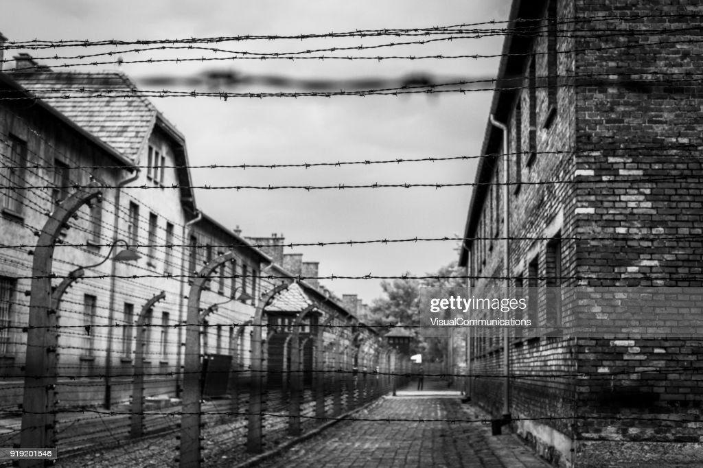 Campo de concentração de Auschwitz. : Foto de stock