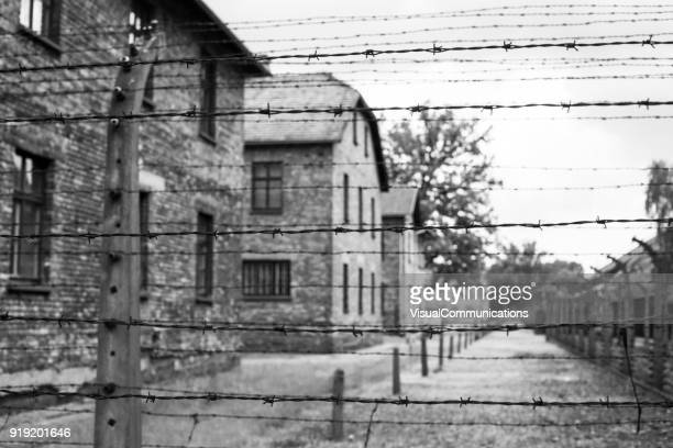 auschwitz concentration camp. - auschwitz stock pictures, royalty-free photos & images