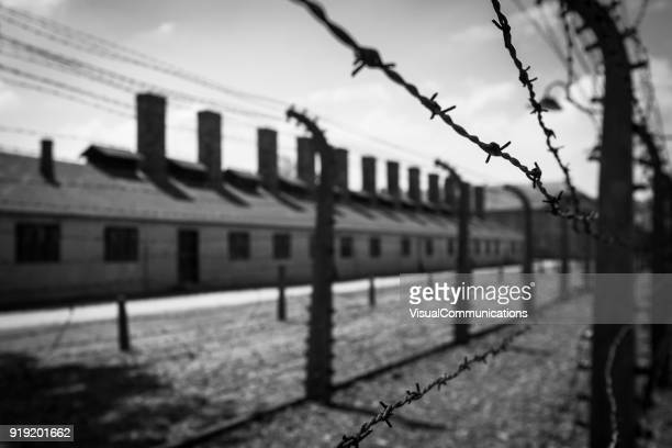 auschwitz concentration camp. - concentration camp photos stock pictures, royalty-free photos & images