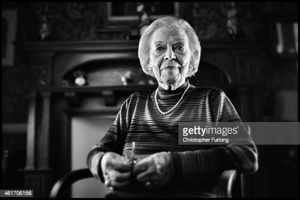 Auschwitz concentration camp survivor Susan Kluger aged 89 poses in her London home on December 1 2014 in London United Kingdom As the Russians...