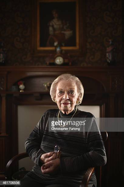 Auschwitz concentration camp survivor Susan Kluger aged 89 poses in her home on December 1 2014 in London United Kingdom As the Russians approached...