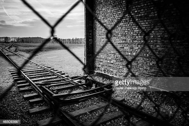 CONTENT] Auschwitz II Birkenau Nazi Concentration Camp II World War Fences and railroad inside the camp jpeventfotografiede