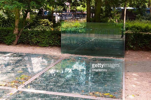 auschwitz memorial, em amsterdã. - auschwitz - fotografias e filmes do acervo