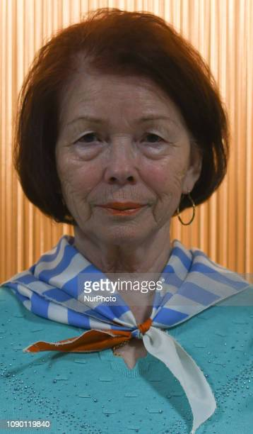 Auschwitz survivor Stefania Wernik born in Auschwitz camp in 1944 seen on the eve of the 74th anniversary of the camp liberation by the Red Army On...