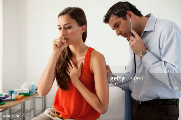 auscultation, woman - copd stock photos and pictures