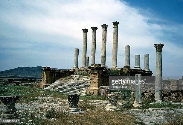 Ausgrabungen bei Tuburbo Majus 1996ansicht säulen antike